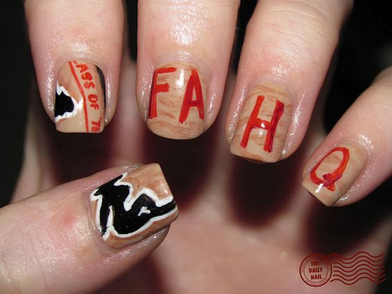 The Daily Nail : Dazed and Confused themed nails :)