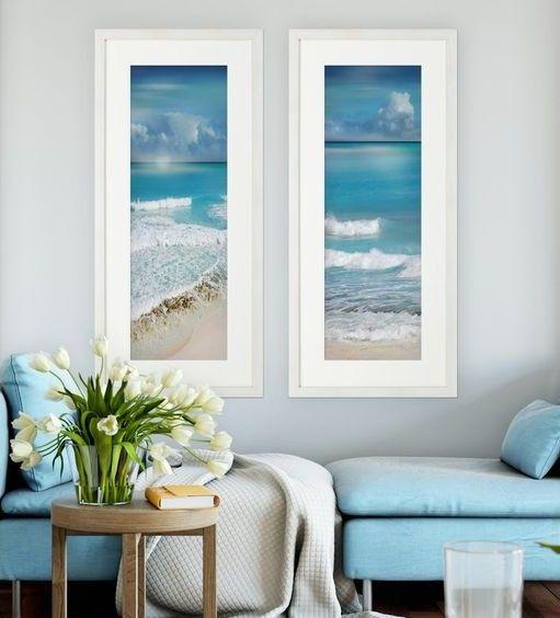 Decorative Coastal Wall Art Sets Beach House Decor Beach Home Interiors Beach House Interior Wall art for beach house