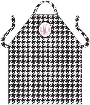 monogram houndstooth apron