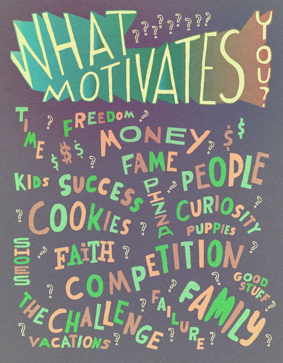 What Motivates You? Snacks - WIll Bryant Studio Type - what motivates you
