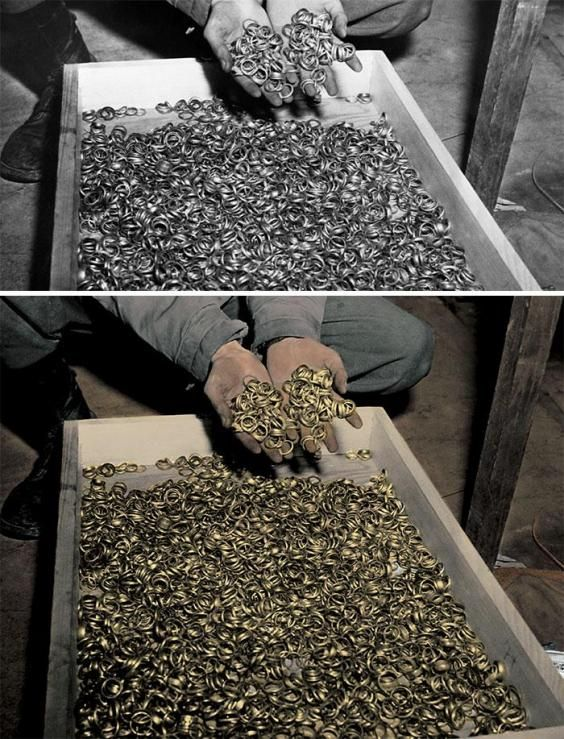 Wedding rings found during the liberation of Buchenwald Concentration Camp