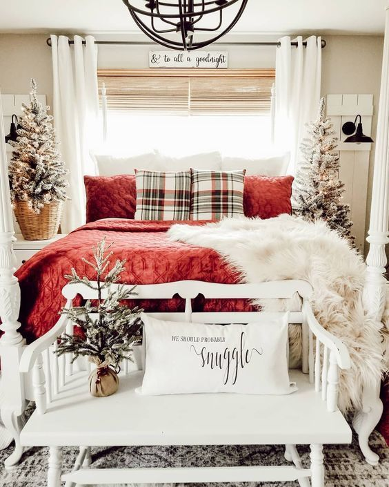 Pinterest Christmas Decorations Bedroom Holiday Room Holiday Room Decor