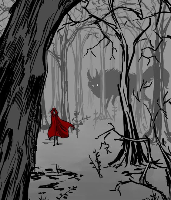 a splash of red-riding hood. One of my favorite childhood stories! Who's afraid of the big bad wolfe?
