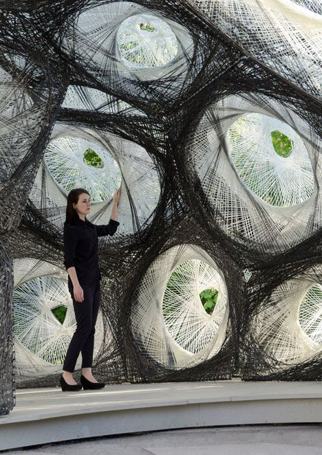 University of Stuttgart unveils carbon-fibre pavilion based on beetle shells.: