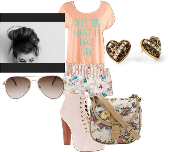 """Girls Just Want to Have Sun"" by louiskookie ❤ liked on Polyvore"