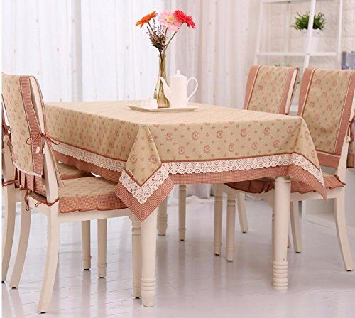Wfljl Tablecloth Linen Rural Lace Dining Table Coffee Table Red 150x210cm Cool Furniture Coffee Table Home Decor