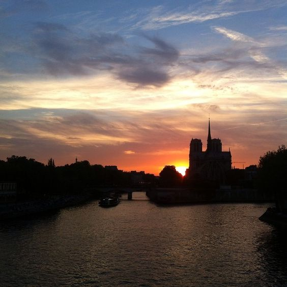 À faire rêver #paris #seine #notredame #sunset