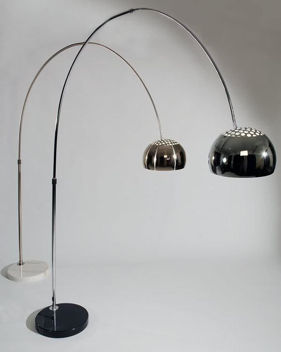black arc floor lamp arco castiglio italian lamp retro arc floor lamps. Black Bedroom Furniture Sets. Home Design Ideas