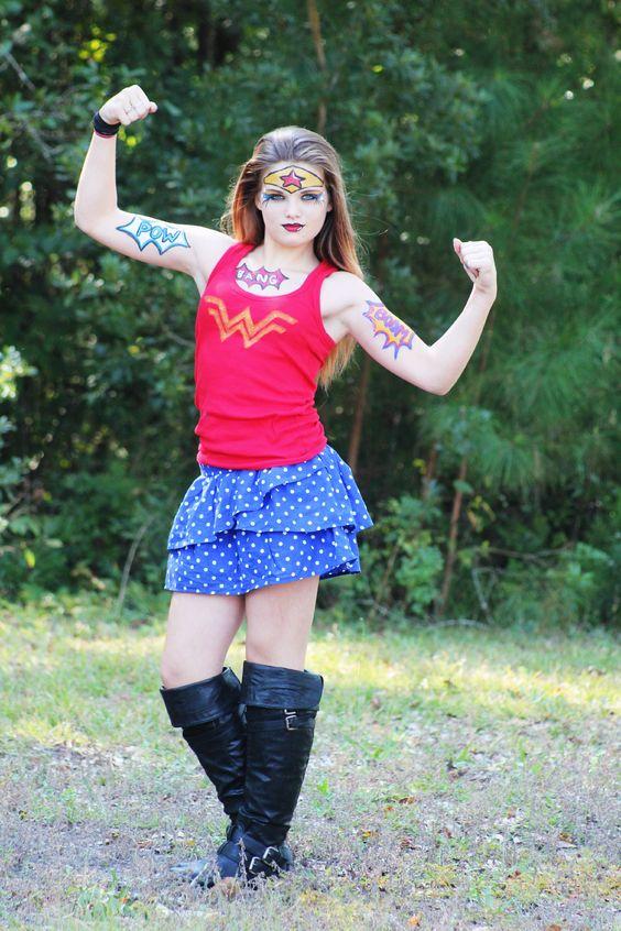 group wonder woman costume teen