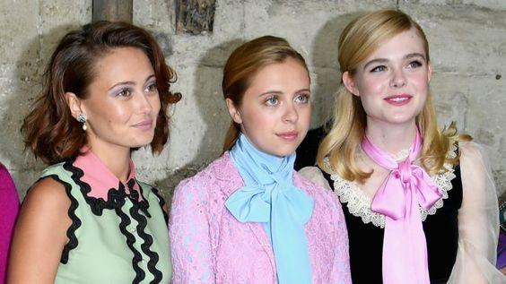 As convidadas mais lindas no desfile da Gucci