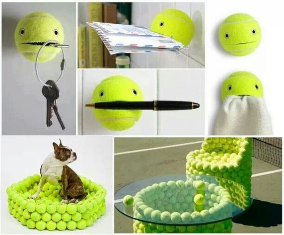 Tennisbal idee creatieve idee n pinterest for Creative things out of waste
