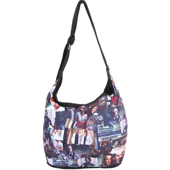 Supernatural Photo Collage Hobo Bag Hot Topic (25 CAD) ❤ liked on Polyvore featuring bags, handbags and shoulder bags