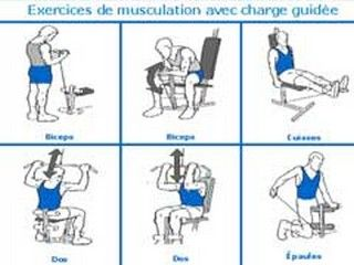 appareil a charge guidee pour se muscler