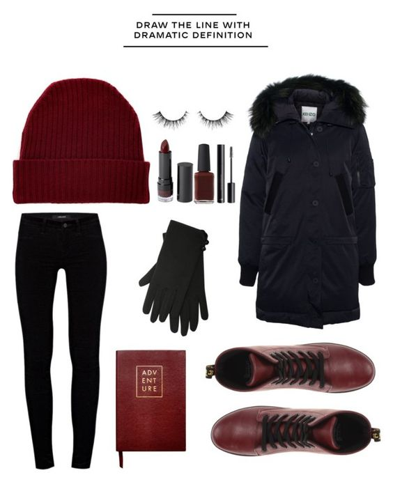 """my outfit for korea {4/12/15}"" by omgmarissa ❤ liked on Polyvore featuring Dr. Martens, Orwell + Austen, Kenzo, J Brand, M&Co, Monki, Sloane Stationery, Chanel and H&M"