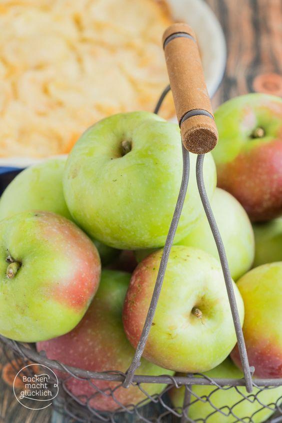 Apfelkuchen mit vielen Äpfeln
