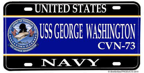 USS George Washington CVN-73 Aluminum License Plate