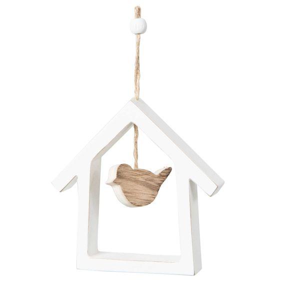 Decorazione di Natale casetta per uccelli da appendere in legno   - Venduto x 8