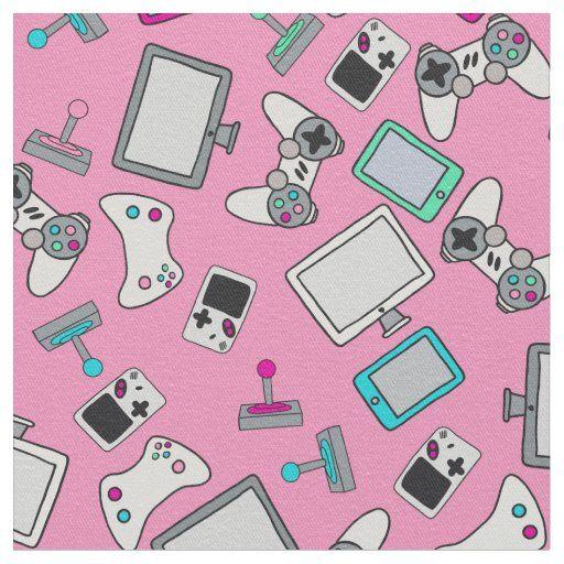 Gamer Girl Video Games Gaming Pink Fabric Pink Games Cute Games Gamer Girl