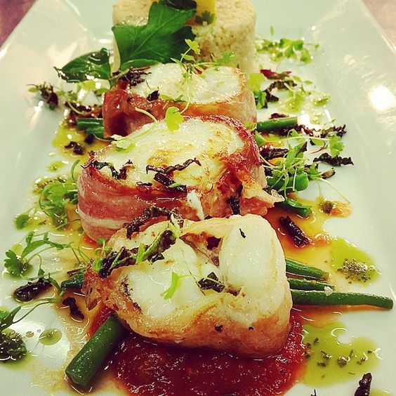 xXx Monkfish wrapped in parma ham with a warm tomato coulis & citrus ...