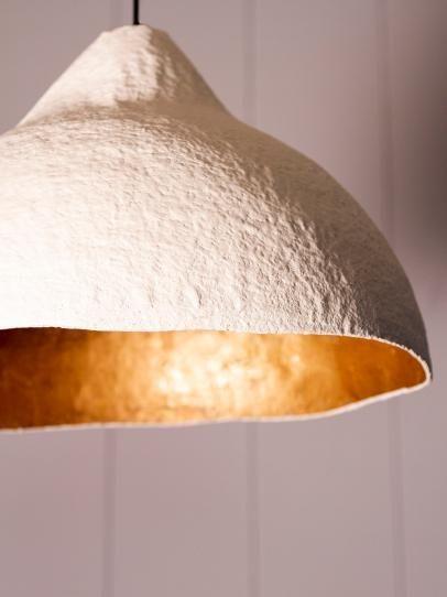 How To Make A Paper Mache Pendant Light, Paper Mache Lamp