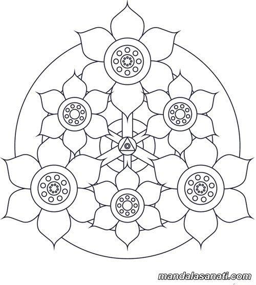 Kolay Mandala Ornekleri Yeni Baslayanlar Icin Boyama Sayfalari