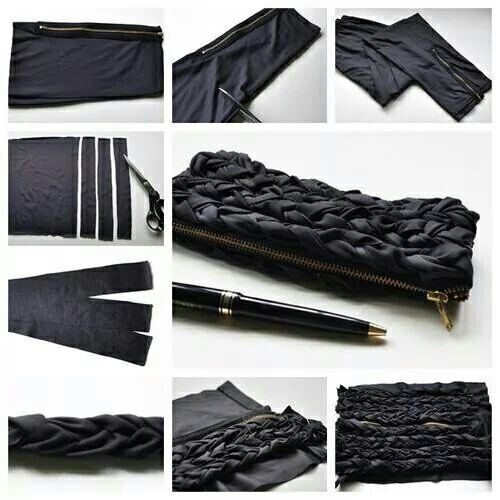 DIY pencil/pen pouch