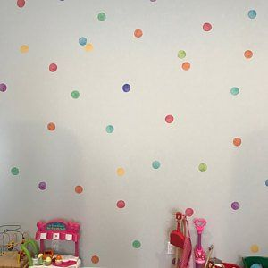 Watercolor Dots Wall Stickers Rainbow Irregular Shaped Dots