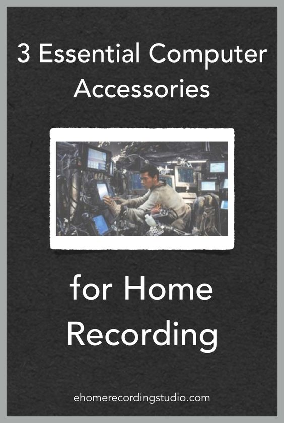 Pleasant 3 Essential Computer Accessories For Home Recording Largest Home Design Picture Inspirations Pitcheantrous