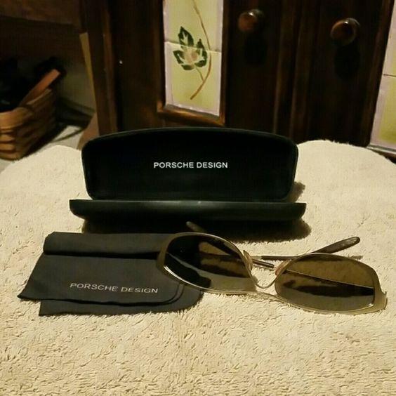 Sunglasses Authentic Porsche sunglasses,  case and cleaning cloth Porsche  Accessories Glasses