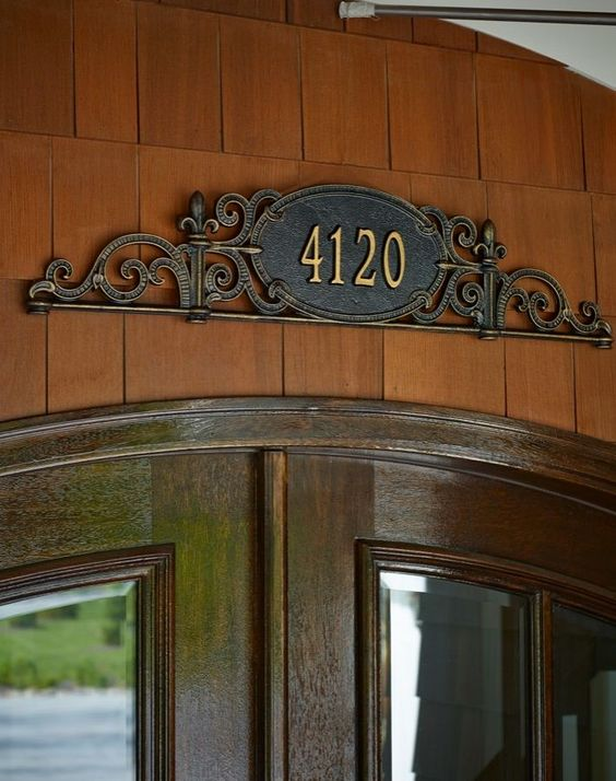 Address plaque accessories and doors on pinterest for Location plaque garage