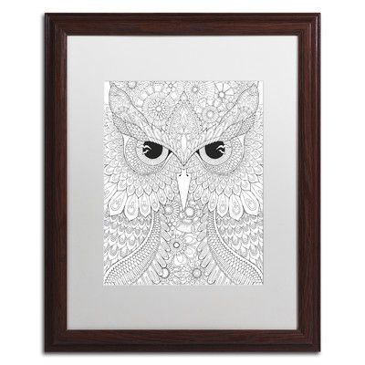 Trademark Art 'Night Owls 3' by Hello Angel Framed Graphic Art Size: