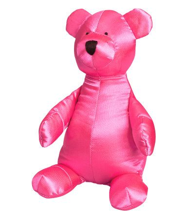 Pink satin teddy bear