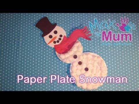 Kids' Christmas Craft - How to Make a Paper Plate Snowman