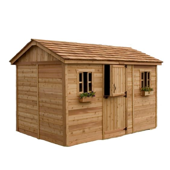 Outdoor living today 12 x 8 cabana shed with dutch door for 12x8 shed with side door