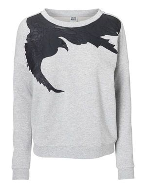 WP - BIRD L/S SWEAT, Light Grey Melange, main