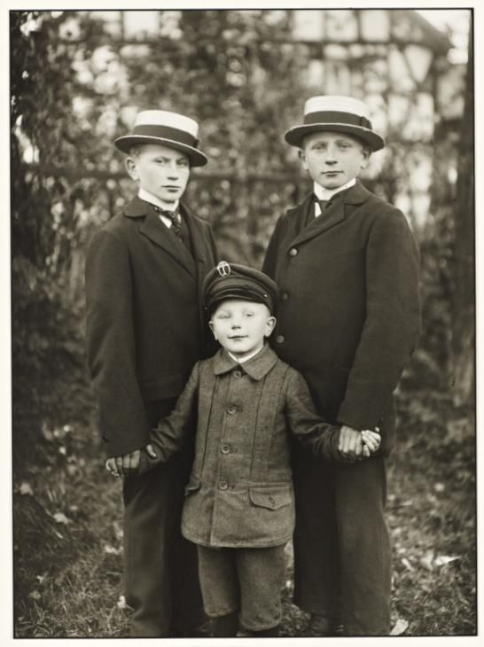 Three Brothers. Germany. 1919. August Sander.
