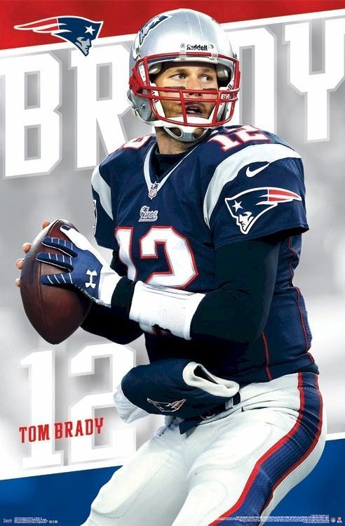 Tom Brady Looks Downfield 22x34 Nfl Poster New England Patriots Football New England Patriots Merchandise New England Patriots Football New England Patriots