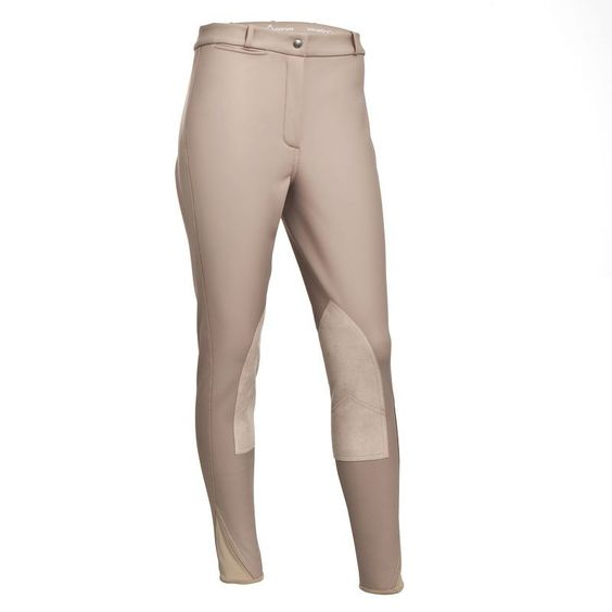 EQUITATION Equitation Vêtements - Pantalon femme KIPWARM beige FOUGANZA - Les bas WHITE