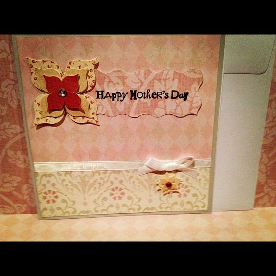 Elegant mother 39 s day card handmade crafts for Classy mothers day cards