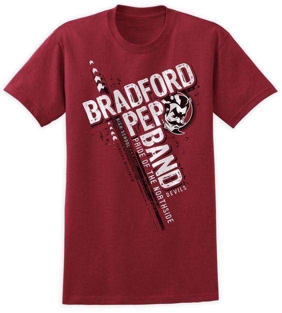 Bradford High School Pep Band Shirt Design T Shirts By