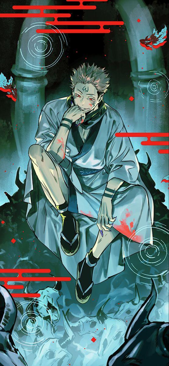 Ryomen Sukuna Wallpaper In 2021 Black Clover Anime Cool Anime Wallpapers Jujutsu