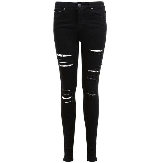 Miss Selfridge Lizzie Shredded Jeans (62 AUD) ❤ liked on Polyvore ...