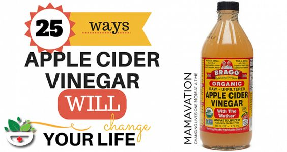 25 WAYS APPLE CIDER VINEGAR WILL CHANGE YOUR LIFE!