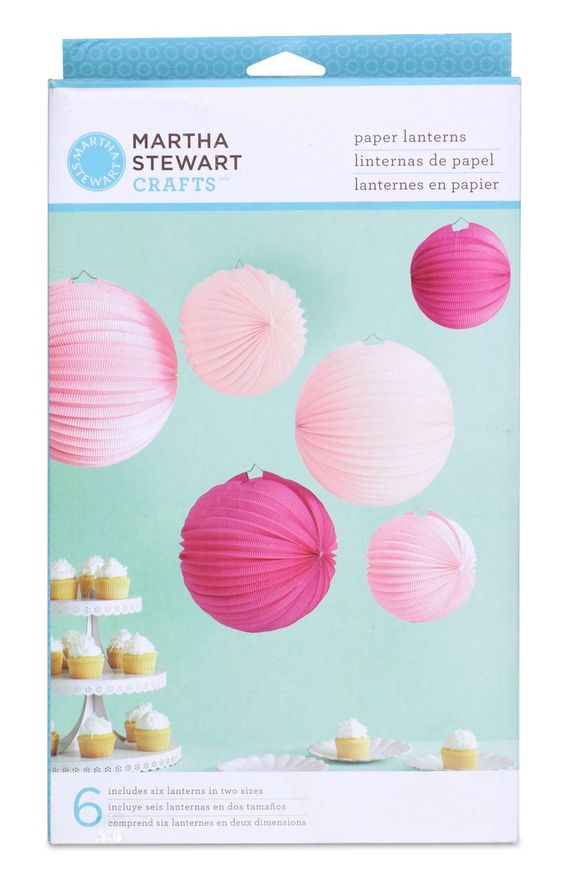 Accordion Paper Lanterns | Would love to find some polka dotted ones...