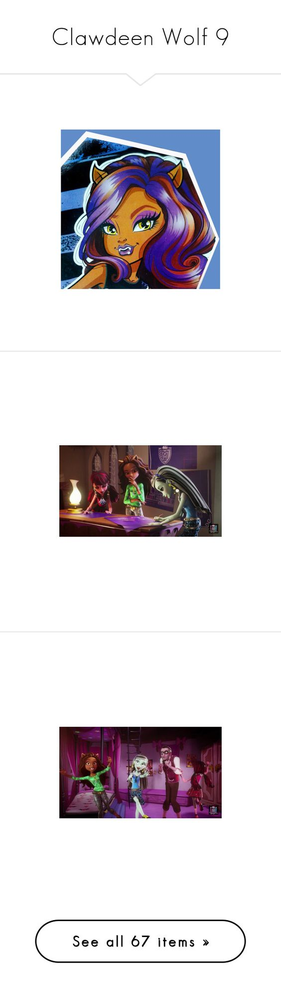 """""""Clawdeen Wolf 9"""" by bluetidegirl ❤ liked on Polyvore featuring dresses, gowns, purple gown, purple ball gowns, purple evening dresses, purple dress, purple evening gowns, cocktail prom dress, ombre chiffon dress and sexy cocktail dresses"""