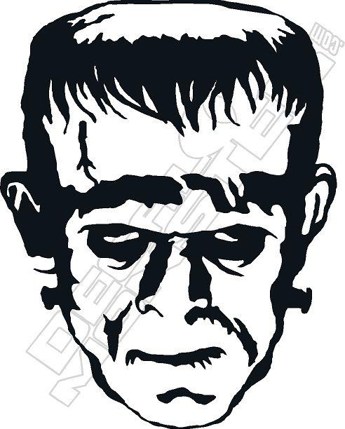 Frankenstein Decal Sticker Frankenstein Art Cricut Halloween Halloween Silhouettes