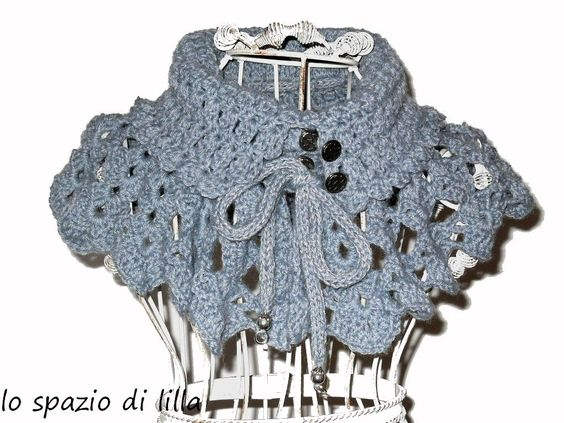 lo spazio di lilla: Collo e cappello all'uncinetto per l'inverno: SmoKeyGraY