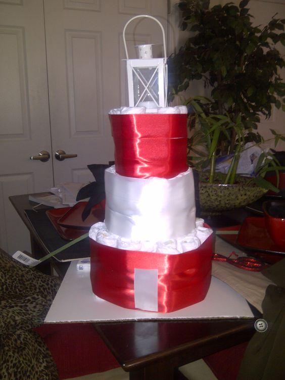 How To Make A Lighthouse Diaper Cake