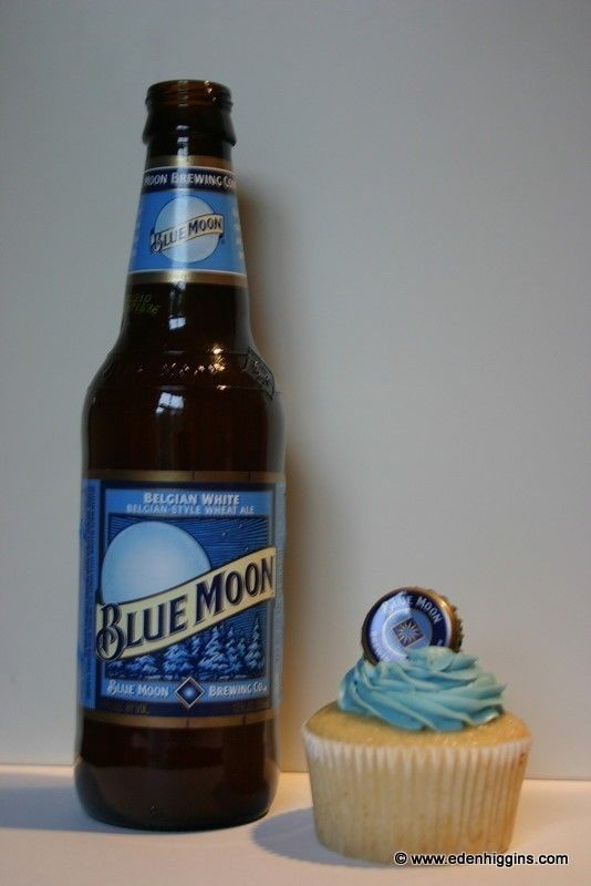 This is for Jessica! :)   blue moon cupcakes- white cake with blue moon and orange juice, and orange frosting.