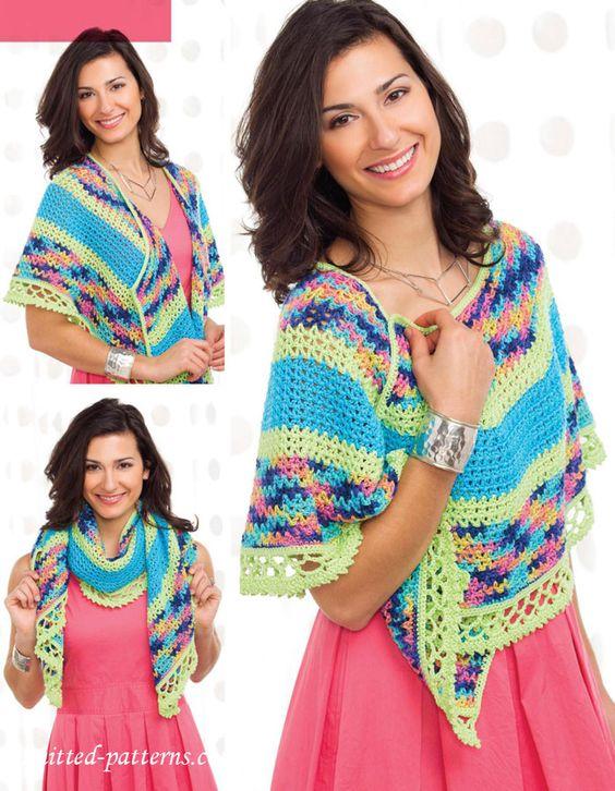 Shawl crochet pattern free